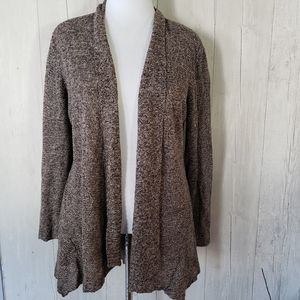 Eileen Fisher | Linen Cardigan Sweater large Brown